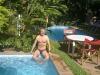 Prosincová koupel v hotelovém bazénu (Asunción)